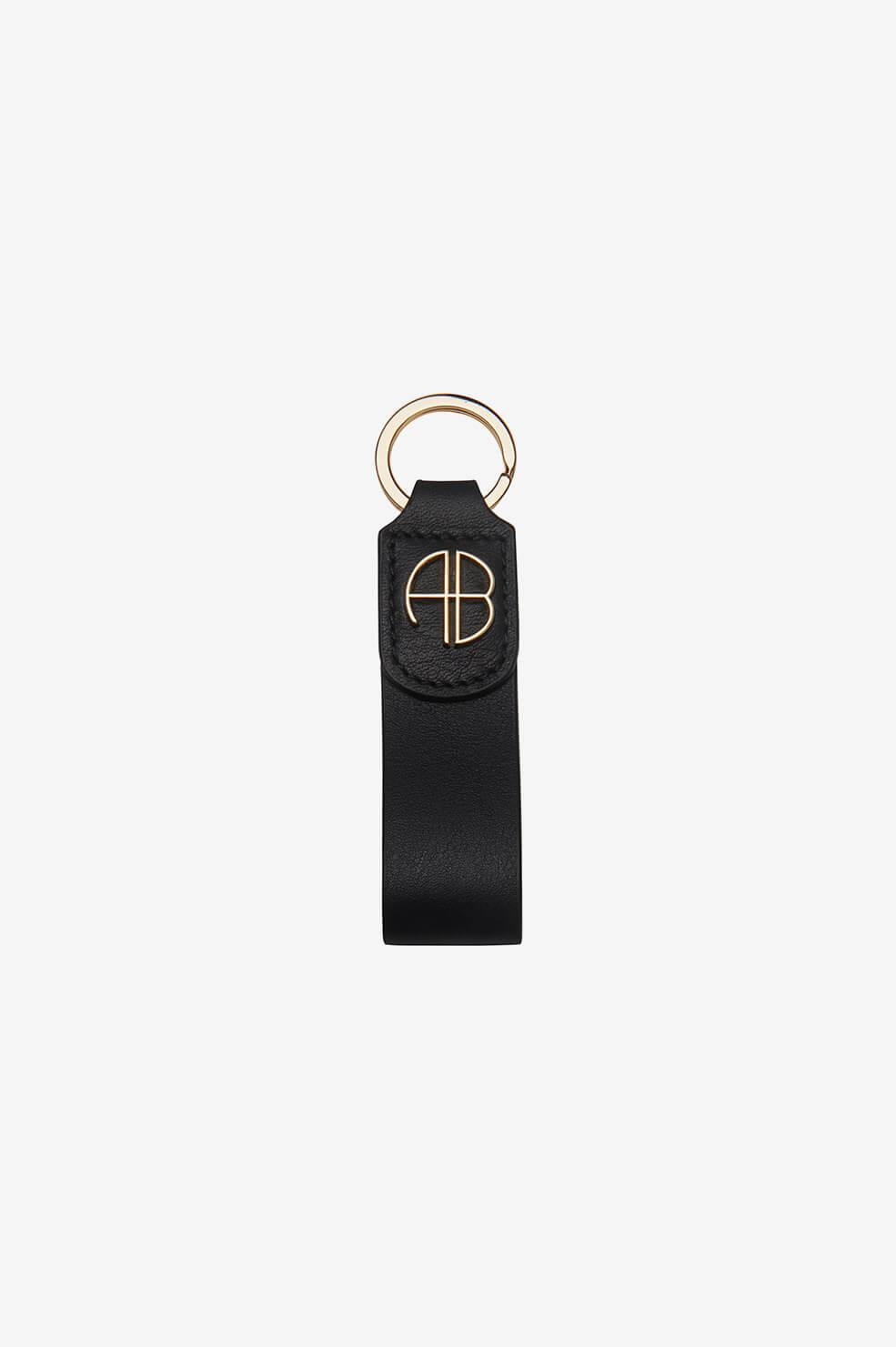 ANINE BING AB Key Chain in Black  - Black - Size: One Size