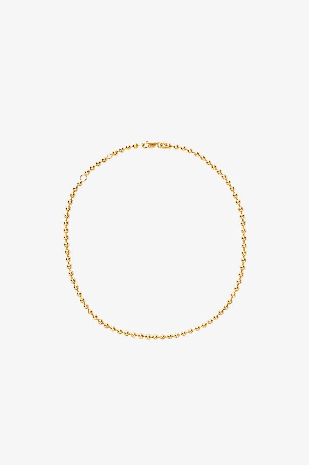ANINE BING 14k Yellow Gold Beaded Necklace  - 14k Yellow Gold - Size: One Size