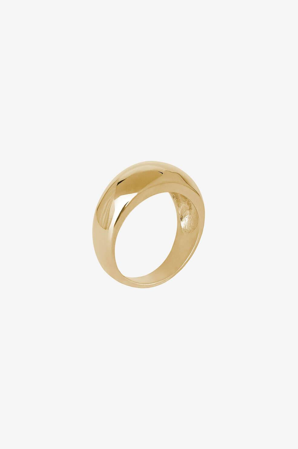 ANINE BING Dome Ring in Gold  - Gold - Size: 6