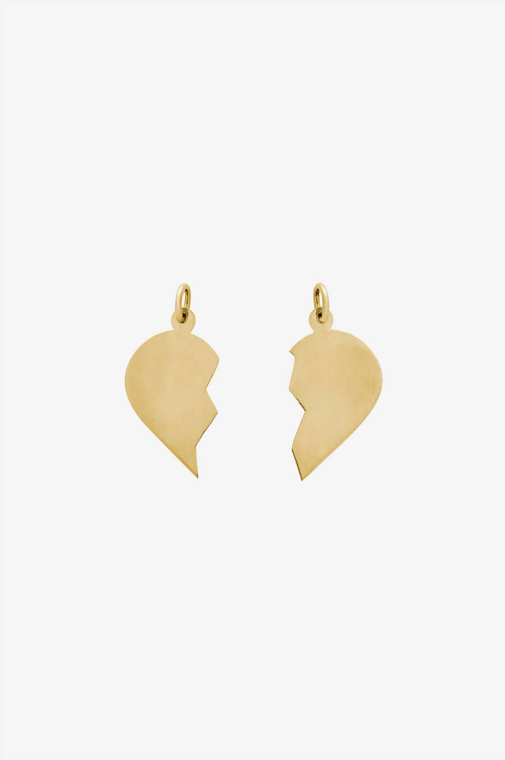 ANINE BING 14k Gold Broken Heart Charm Pendants  - 14k Yellow Gold - Size: One Size
