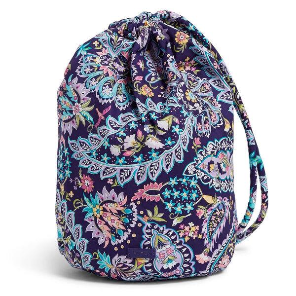 Purple Vera Bradley Ditty Bag in French Paisley Purple