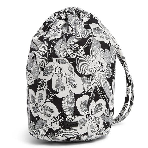 White Vera Bradley Ditty Bag in Bedford Blooms White
