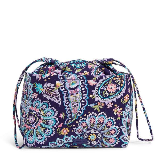 Purple Vera Bradley Pocket Ditty Bag in French Paisley Purple