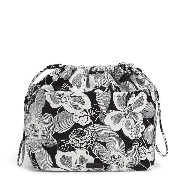 White Vera Bradley Pocket Ditty Bag in Bedford Blooms White