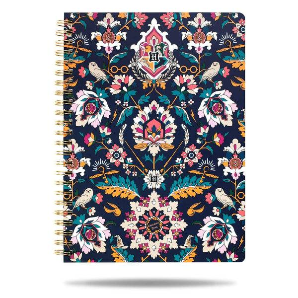 Blue Vera Bradley Harry Potter™ Mini Notebook with Pocket in Home to Hogwarts™ Blue