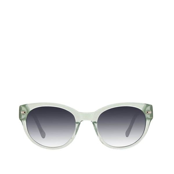Blue Vera Bradley Maggie Polarized Round Sunglasses Women in Floating Garden Blue