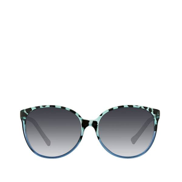 Blue Vera Bradley Tori Polarized Oversized Round Sunglasses Women in Floating Garden Blue