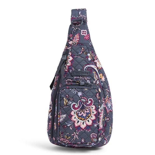Pink Vera Bradley Mini Sling Backpack in Felicity Paisley Pink