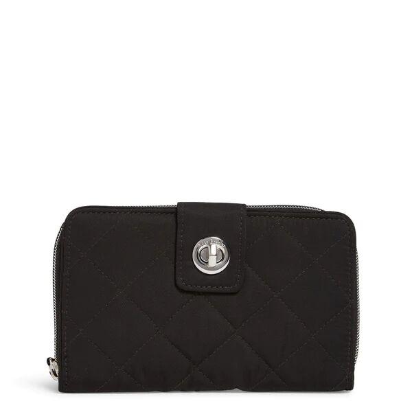 Black Vera Bradley RFID Turnlock Wallet Women in Black