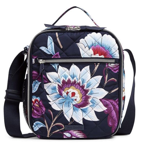 Blue Vera Bradley Deluxe Lunch Bunch Bag in Mayfair in Bloom Blue