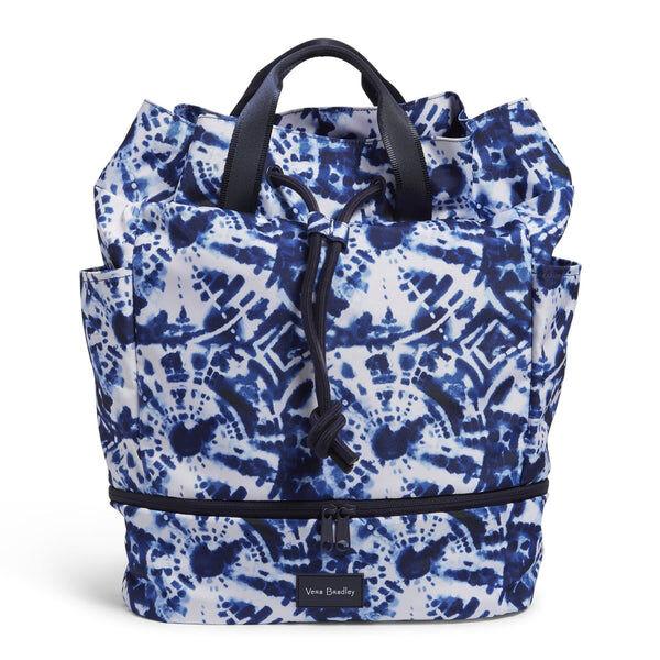 White Vera Bradley Sport Bag in Island Tie-Dye White
