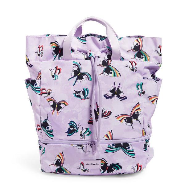 Purple Vera Bradley Sport Bag in Lavender Butterflies Purple