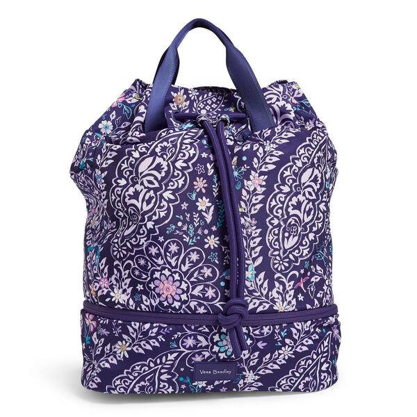 Purple Vera Bradley Sport Bag in Belle Paisley Purple