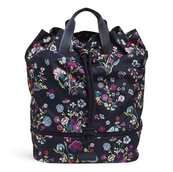 Blue Vera Bradley Sport Bag in Itsy Ditsy Floral Blue