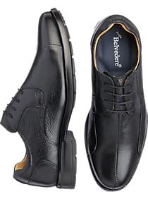 Belvedere Coronado Black Bike Toe Lace-Up Dress Shoes
