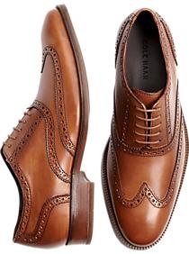 Cole Haan Williams Tan Wingtip Shoes
