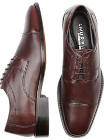 J. Murphy by Johnston & Murphy Novick Burgundy Cap Toe Lace Up Shoes