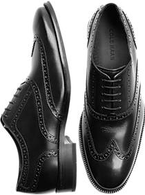 Cole Haan Williams Black Wingtip Shoes