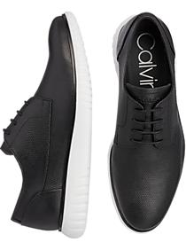 Calvin Klein Teodor Black Plain Toe Lace Up Shoes