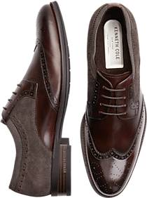 Kenneth Cole Brock Brown Wingtip Shoes