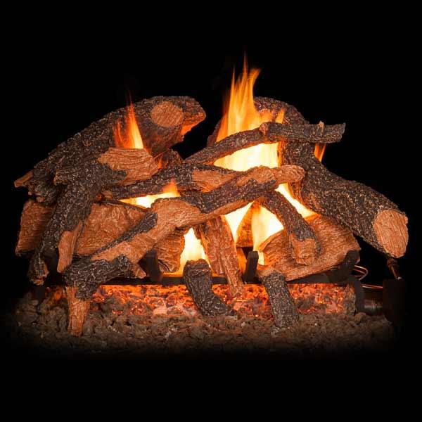 Golden Blount Texas Hickory Fire See Thru Vented Gas Log Set