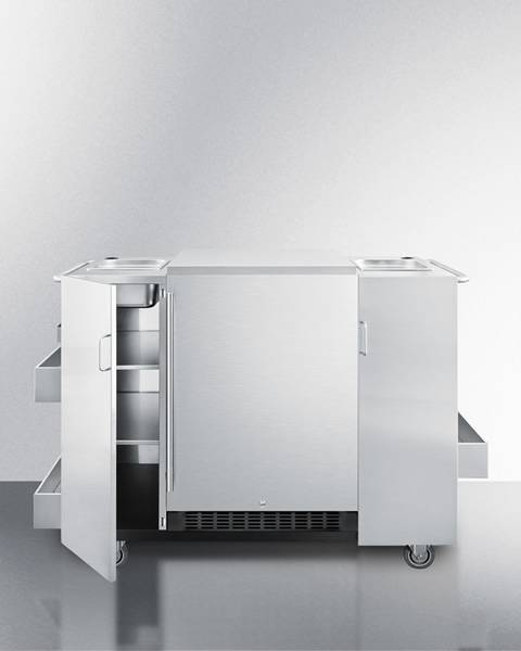 Summit Appliance Summit CartOSRF Serving Cart with Refrigerator