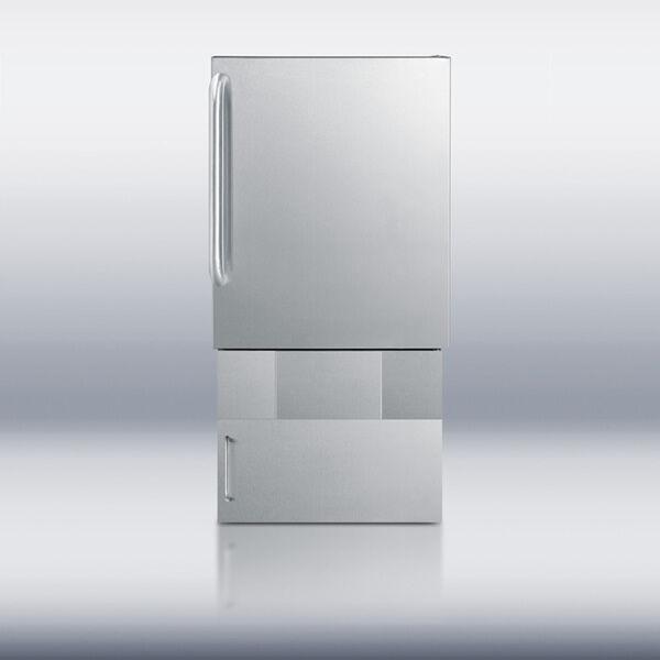 "Summit Appliance Summit BIM24OS Outdoor Ice Maker with Base - 34"""