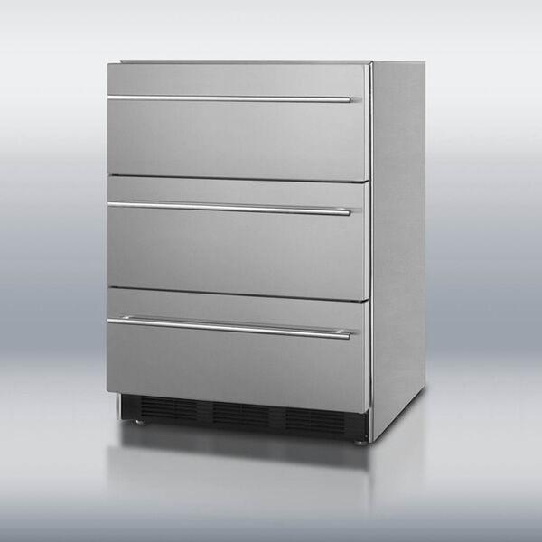 Summit Appliance Summit SP6DSSTBOSThin Triple Drawer Refrigerator