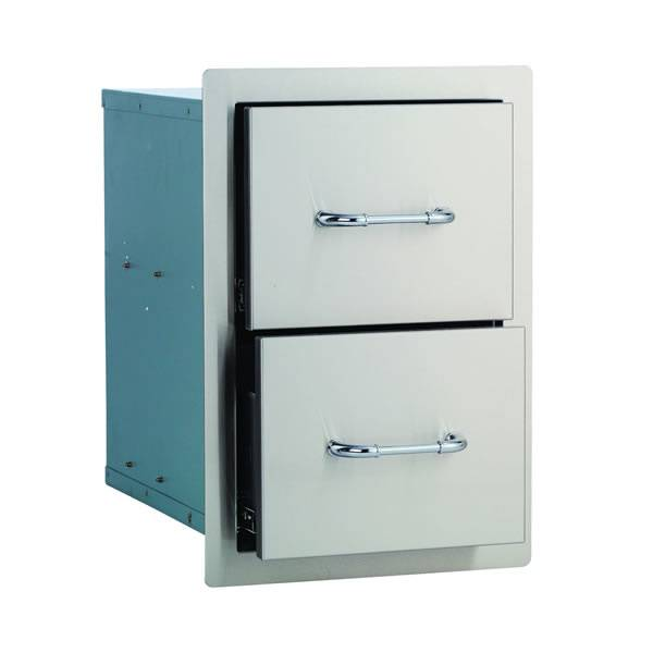 Bull Outdoor Products Bull Outdoor Stainless Steel Double Drawer