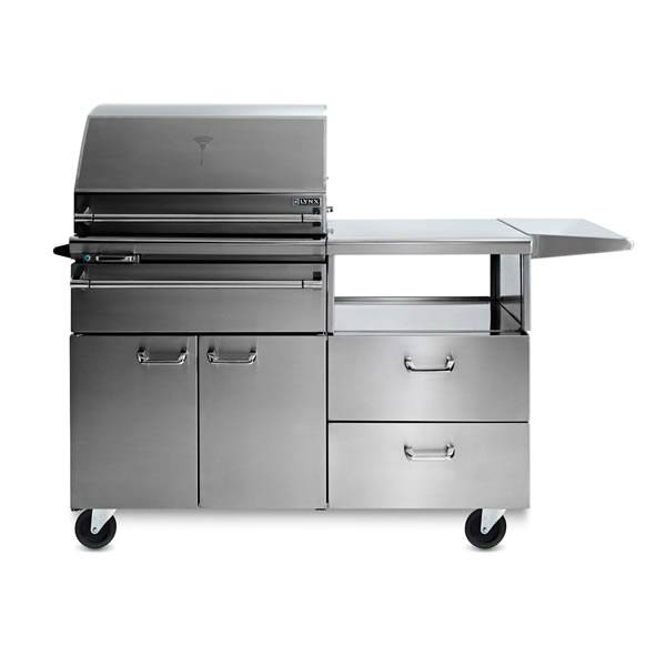 Lynx Sonoma Smart  Smoker On Mobile Kitchen Cart