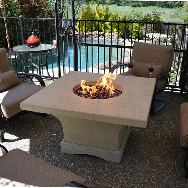 HearthCo Mount Shasta Gas Fire Pit Table - Dining Height