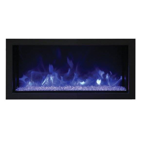 Amantii Remii Extra Slim Indoor/Outdoor Built-In Electric Fireplace