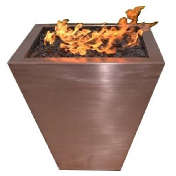 The Outdoor Plus FPT2500 Taper Copper Fire Pit - LP