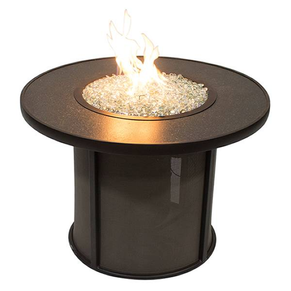 The Outdoor GreatRoom Stonefire Round Crystal Gas Fire Pit Table - 32""