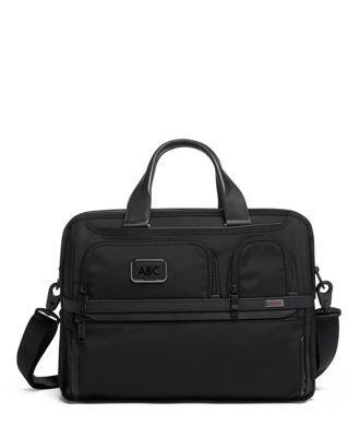 tumi Expandable Organizer Laptop Brief  - Black - Size: one size