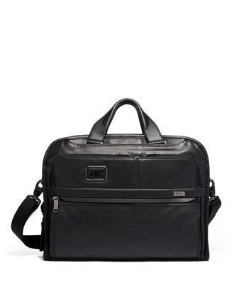 tumi Organizer Portfolio Brief Leather  - Black Leather - Size: one size