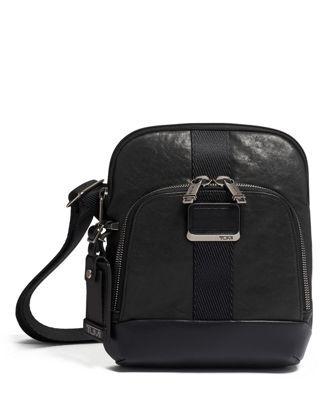 tumi Barksdale Crossbody Leather  - Black Leather - Size: one size