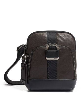 tumi Barksdale Crossbody Leather  - Dark Brown - Size: one size