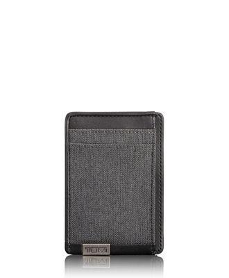 TUMI ID Lock™ Money Clip Card Case  - Anthracite/Black - Size: one size