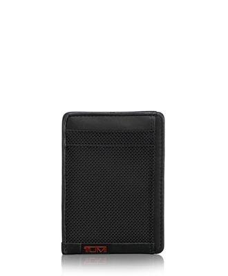 TUMI ID Lock™ Money Clip Card Case  - Black - Size: one size