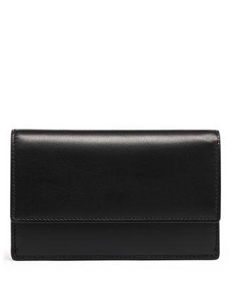 tumi Small Slim Envelope Wallet  - Black - Size: one size