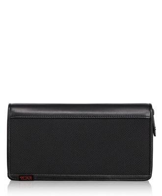 TUMI ID Lock™ Zip-Around Travel Wallet  - Black - Size: one size