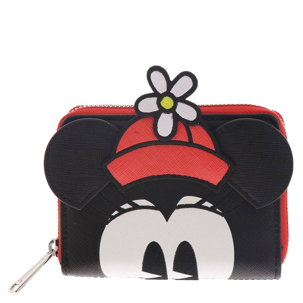 Loungefly Positively Minnie Polka Dot Zip Around Wallet Black Misc Accessories No Size