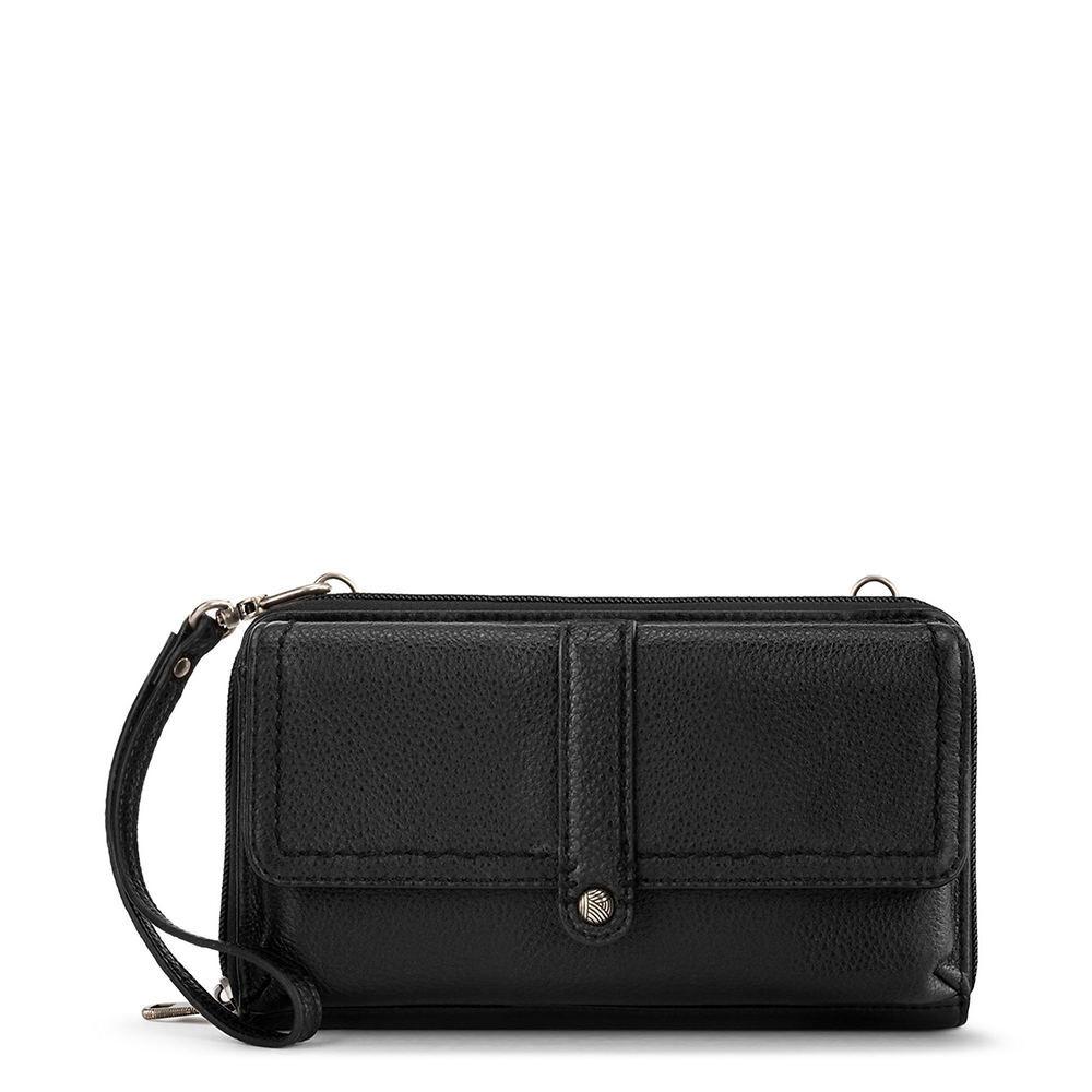 The Sak Sequoia Flap Phone Crossbody Bag Black Bags No Size