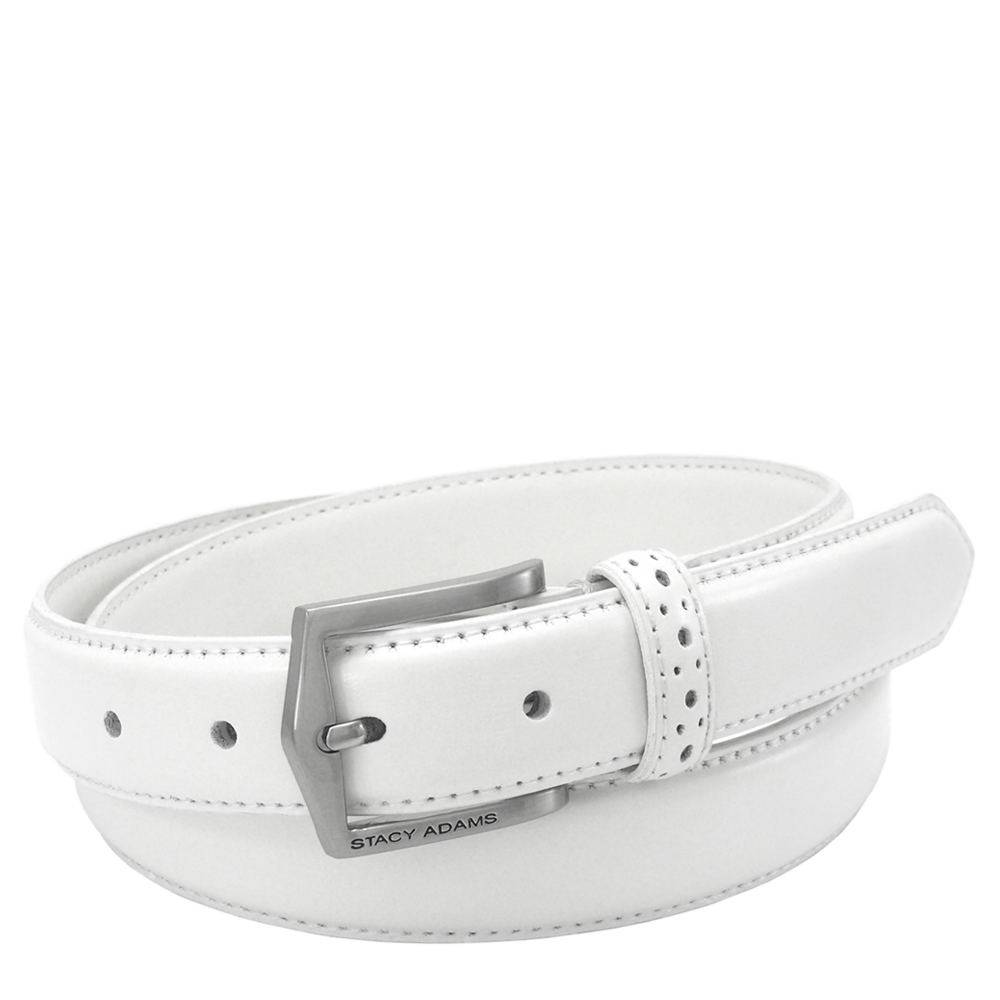 Stacy Adams Pinseal Belt 30mm White Misc Accessories 50