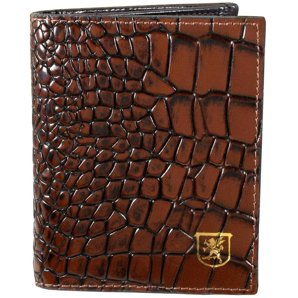 Stacy Adams Men's Osburne Croc Card Holder Brown Misc Accessories No Size