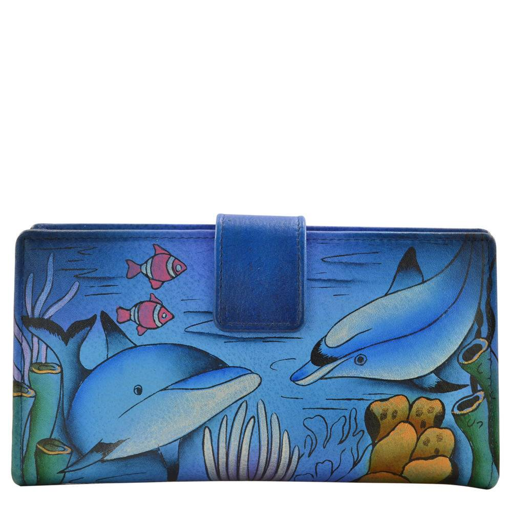Anna by Anuschka Two Fold Organizer Wallet Multi Misc Accessories No Size