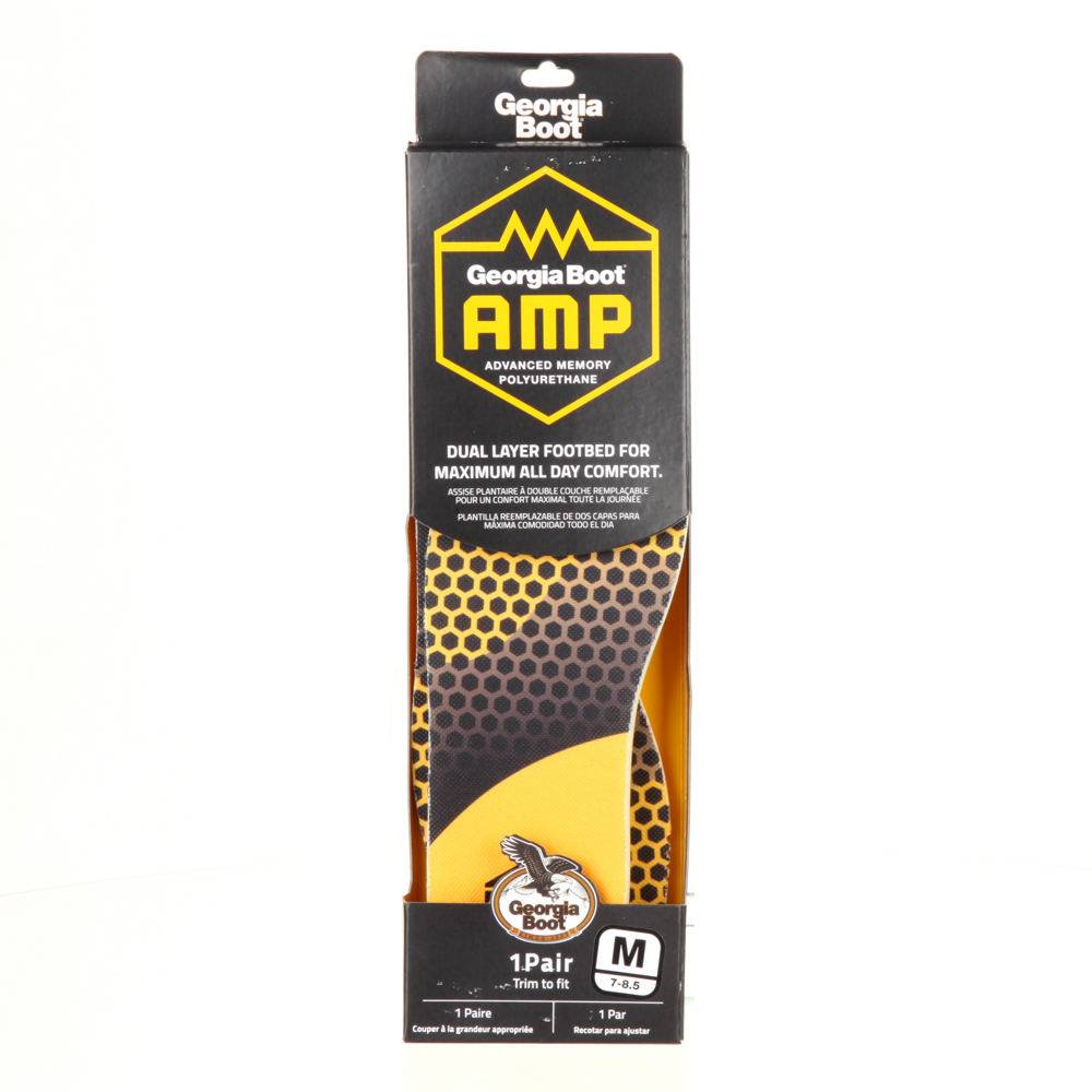 Georgia Boot AMP Memory Foam Footbed Unisex Yellow Footwear Accessories L