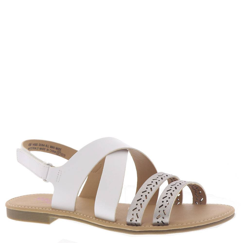 Rachel Shoes Duna Girls' Toddler-Youth White Sandal 2 Youth M