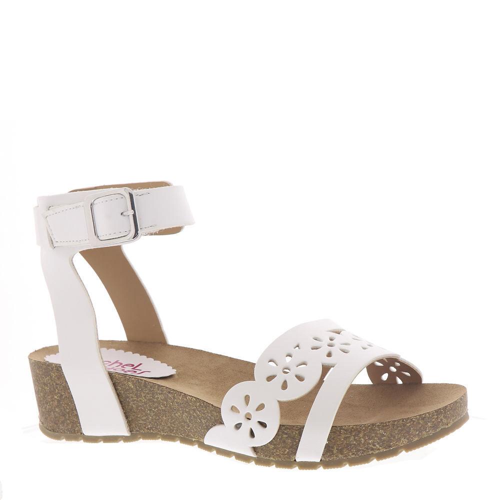 Rachel Shoes Makenna Girls' Toddler-Youth White Sandal 13 Toddler M